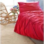 Satin Bettwäsche-Set Porto in rot 100% Baumwolle - hergestellt in Portugal