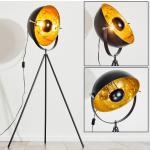 Saturn Stehlampe Schwarz, 1-flammig - Vintage, Industrial - Innenbereich - versandfertig innerhalb von 2-4 Werktagen