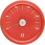 """Sauna Thermometer Aluminium """"Fiery Red"""" rund 6410413082045"""