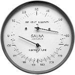 Sauna Thermometer & Hygrometer 130 mm, 194-01F (Englisch, °F)