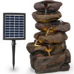 Savona Solarbrunnen 2,8 W Polyresin 5h Akku LEDs Steinoptik
