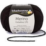 Schachenmayr Handstrickgarne Schachenmayr Merino Extrafine 170, 50G Black
