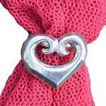 Schalring - Maori Herz - Handgegossen von William Sturt aus Deutsche Zinn (Pewter)