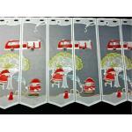 Scheibengardine rote Feuerwehr Bistro 150 cm breit / 60 cm hoch Kinder Vorhang