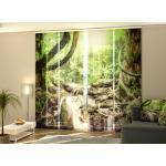Schiebegardine Manora Wasserfall im Dschungel, Flächenvorhang mit Motiv, auf Maß