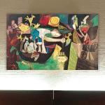 """Schild """"Night fishing at Antibes"""" von Picasso, Kunstdruck"""