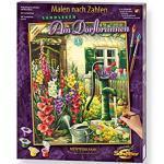 Schipper 609130632 Malen nach Zahlen, Am Dorfbrunnen - Bilder malen für Erwachsene, inklusive Pinsel und Acrylfarben, 40 x 50 cm