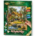 Schipper 609240831, Malen nach Zahlen, Old English Cottage, Bilder malen für Erwachsene, inklusive Pinsel und Acrylfarben, 24 x 30 cm