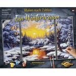 Schipper Malen nach Zahlen Meisterklasse Triptychon, Ein Wintertraum bunt Kinder Ab 12-15 Jahren Altersempfehlung Malvorlagen