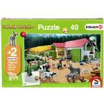 Schmidt Puzzle Farm World Bauernhof 56189 mit Figuren 40 Tei