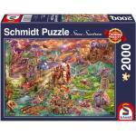Schmidt Spiele Puzzle Der Schatz der Drachen 2000 Teile