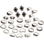 Schneespitze 30 Stück Damen Fingerring Set,Boho Midi Ringe Knuckle Ring Set Fashion Frauen Midi Ring für Damen Mädchen Vintage Ring