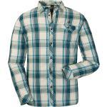 Schöffel Shirt Antwerpen Kariert-Beige-Blau, Herren Hemden, Größe 58 - Farbe Navy Blazer %SALE 40%