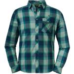 Schöffel Shirt Duleda Kariert-Grün, Herren Hemden, Größe 46 - Farbe Sea Moss %SALE 35%