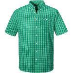 Grüne Kurzärmelige Schöffel Herrenhemden Übergrößen für den Sommer