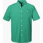 Grüne Kurzärmelige Schöffel Herrenkurzarmhemden Übergrößen für den Sommer