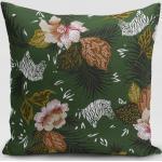 SCHÖNER LEBEN. Kissenhülle » Kissenhülle ZOOP Blumen Zebra grün braun weiß schwarz verschiedene Größen«, handmade