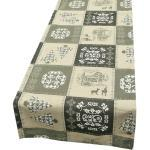 SCHÖNER LEBEN. Tischband »Schöner Leben Tischläufer Weihnachten Patchwork natur schwarz 40x160cm«, handmade