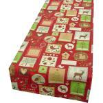 SCHÖNER LEBEN. Tischband »Schöner Leben Tischläufer Weihnachten Patchwork Tiere rot 40x160cm«, handmade