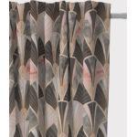 SCHÖNER LEBEN. Vorhang » Vorhang Art Deco Bogen Marmor grün rosa braun 245cm oder Wunschlänge«, Smokband (1 Stück), handmade, made in Germany