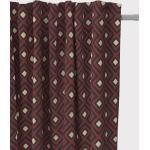 SCHÖNER LEBEN. Vorhang » Vorhang Art Deco Rauten Retro rot schwarz goldfarbig 245cm oder Wunschlänge«, Smokband (1 Stück), handmade, made in Germany