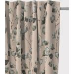 SCHÖNER LEBEN. Vorhang » Vorhang Leinenlook Eukalyptus Leaves Eukalyptusblätter natur grün 245cm oder Wunschlänge«, Smokband (1 Stück), handmade, made in Germany