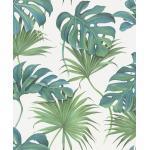 SCHÖNER WOHNEN-Kollektion Vliestapete »Leaves«, 0,53 x 10,05 Meter, weiß, weiß-grün