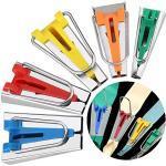 Schrägbandformer,BESTZY 5 Stück Schrägbänder Werkzeug Tape Maker Set 6mm 9mm 12mm 18mm 25mm Nähen Zubehöre für DIY Deko Tape