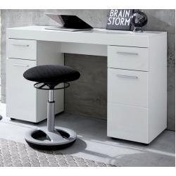 Schreibtisch Amanda in Hochglanz weiß Laptoptisch für Homeoffice und Büro 120 x 76 cm 4251585511856 (1393-012-01)