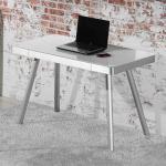 Schreibtisch im Retro Design Glasplatte