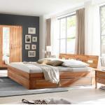 Schubkastenbett aus Kernbuche Massivholz Bettkasten (3-teilig)