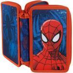 Schüleretui Spiderman Doppeldecker gefüllt