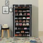Schuhschrank Schuhregal für 45 paar Schuhe staubdichtes Stoff Regal 88x28x160 cm