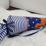 Schultüte Stoff Mit Namen Einschulung Dino Orange Dunkelblau Junge