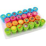 S'cool Selbstfärbende Stempel, Kinder Stempel Spielzeugstempel Stempelset Dekorative Stempel 26-teiliges Set EMOJI