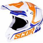 Scorpion Helm VX-16 Air Ernee, weiß-orange-blau Größe S