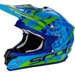 Scorpion VX-15 Air Kistune Crosshelm, grün-blau, Größe XS, grün-blau, Größe XS