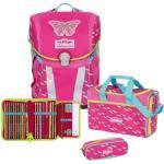 Scout Sunny Schulranzen Set 4-teilig Pink Butterfly