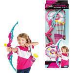 Seciie Pfeil und Bogen Kinder Set, Schießen Spielzeug Bogenschießen Set mit 3 Saugnapfpfeilen 1 Köcher und 1er Zielscheibe für Kinder ab 3 Jahre