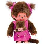 SEKIGUCHI 236200 Monchhichi - Mutter mit Baby pink