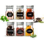 Sendez Gewürzbehälter »12 Vorratsgläser mit Tafelfeld Kreide Marmeladengläser Gewürzgläser Vorratsdose«