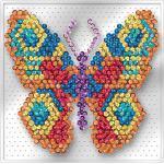 "Sequin Art Easy Paillettenbild ""Schmetterling"" ohne Nadeln, 17 x 17 cm"
