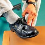 Servocare Schuhriemen elastisch mit 6 Löchern schwarz 3 Paar