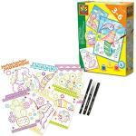SES Creative 14013 Doodle Karten zum Ausmalen, Diverse Farben