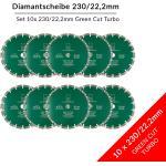 Set 10 Stck Diamantscheibe Green Cut Beton Universal 230 mm fr Beton Granit Klinker Stein