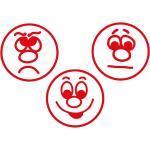 Set Siebdruck-Stempel Perpetuum 3-tlg. Gesichter