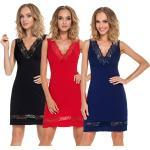 sexy Nachtkleid Negligee Damen Nachtwäsche Nachthemd schwarz rot blau