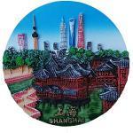 Shanghai China Souvenir Kühlschrankmagnet, 3D-Souvenir, Dekoration für Zuhause und Küche, Shanghai Kühlschrankmagnet