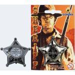 Sheriffstern 6cm Blk silber