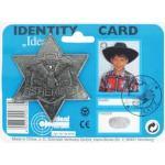 Sheriffstern Metall antik IDEAL 711 0778 8cm D.auf Karte